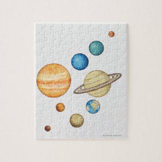 Ejemplo de los planetas de la Sistema Solar Puzzle