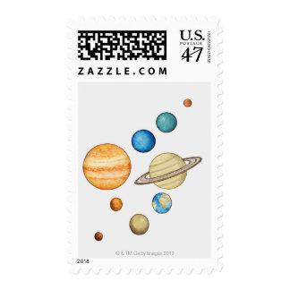 Ejemplo de los planetas de la Sistema Solar Sellos