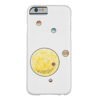 Ejemplo de los planetas que están en órbita el Sun Funda De iPhone 6 Barely There