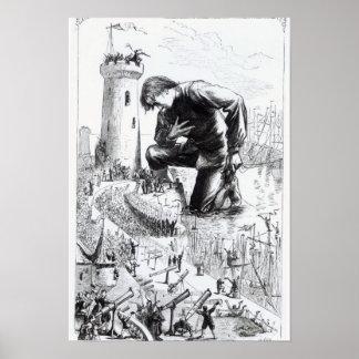 Ejemplo de los 'viajes de Gulliver Póster