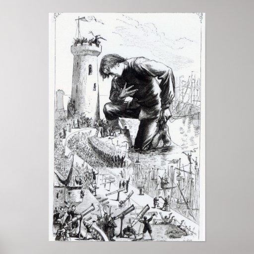 Ejemplo de los 'viajes de Gulliver Poster