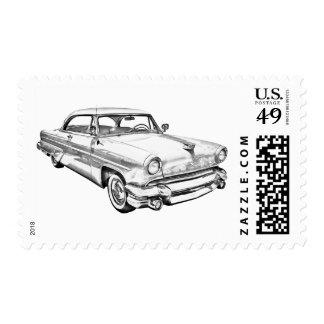 Ejemplo de lujo 1955 del coche de Lincoln Capri Sello