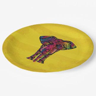 Ejemplo de lujo del elefante - modelo decorativo platos de papel
