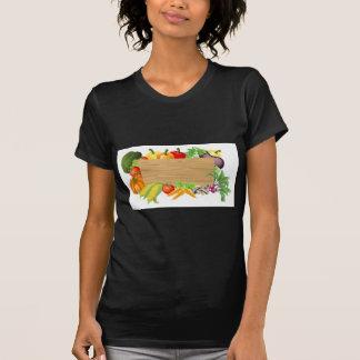 Ejemplo de madera vegetal de la muestra camisetas