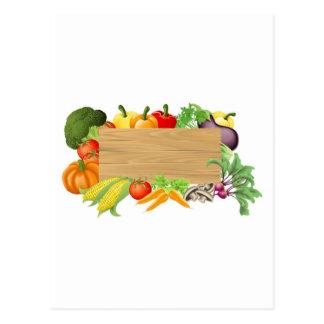 Ejemplo de madera vegetal de la muestra postales