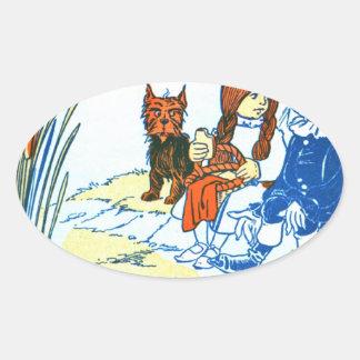 Ejemplo de mago de Oz del vintage - charca Colcomanias De Óval