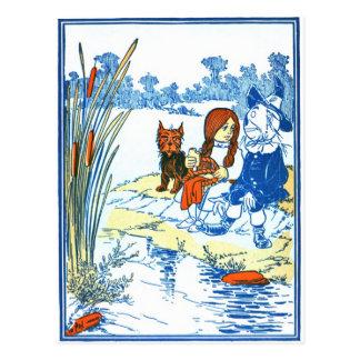 Ejemplo de mago de Oz del vintage - charca Postal