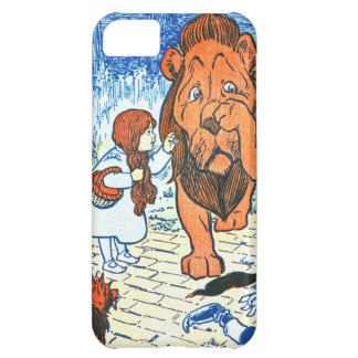 Ejemplo de mago de Oz del vintage - Dorothy y león Funda Para iPhone 5C