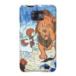 Ejemplo de mago de Oz del vintage - Dorothy y león Samsung Galaxy S2 Carcasas