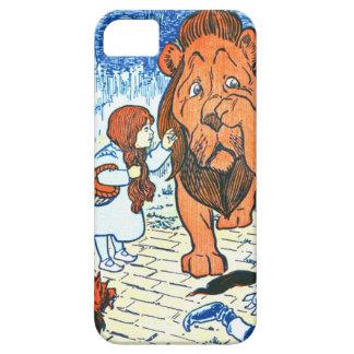 Ejemplo de mago de Oz del vintage - Dorothy y león iPhone 5 Funda