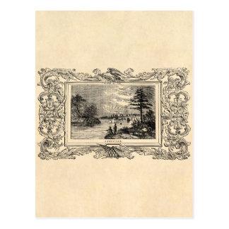 Ejemplo de Nashville Tennessee de los 1800s del Tarjetas Postales