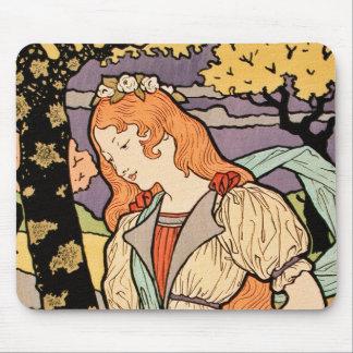 Ejemplo de Nouveau del arte Iris+Rosas por Grasse Alfombrillas De Ratón