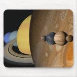 Ejemplo de nueve planetas en la Sistema Solar Alfombrillas De Raton