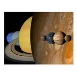Ejemplo de nueve planetas en la Sistema Solar Tarjeta Postal