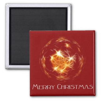 Ejemplo de oro de la bola de las Felices Navidad Imanes