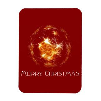 Ejemplo de oro de la bola de las Felices Navidad Imán