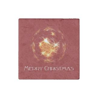 Ejemplo de oro de la bola de las Felices Navidad Imán De Piedra