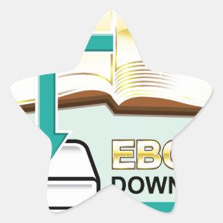 Ejemplo de oro del icono del vector de Ebook de la Pegatina En Forma De Estrella