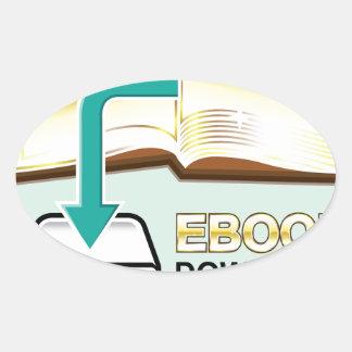 Ejemplo de oro del icono del vector de Ebook de la Pegatina Ovalada