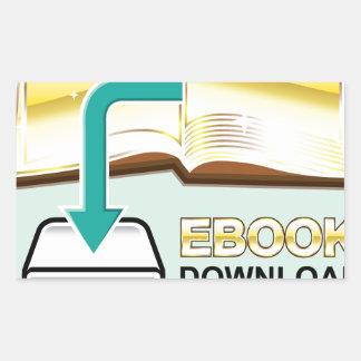 Ejemplo de oro del icono del vector de Ebook de la Pegatina Rectangular