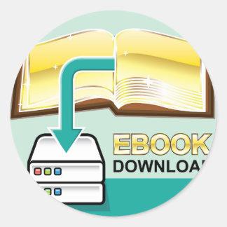 Ejemplo de oro del icono del vector de Ebook de la Pegatina Redonda