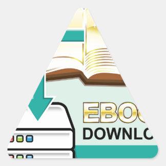 Ejemplo de oro del icono del vector de Ebook de la Pegatina Triangular