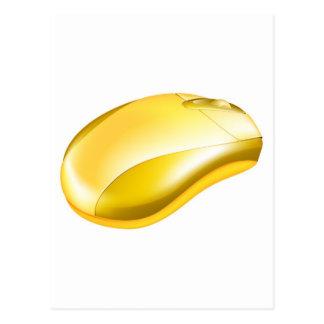 Ejemplo de oro del ratón del ordenador tarjetas postales