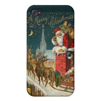 Ejemplo de Papá Noel del vintage - iPhone 4 4S iPhone 4 Cárcasas