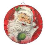 Ejemplo de Papá Noel del vintage - tablero de dard Tabla Dardos