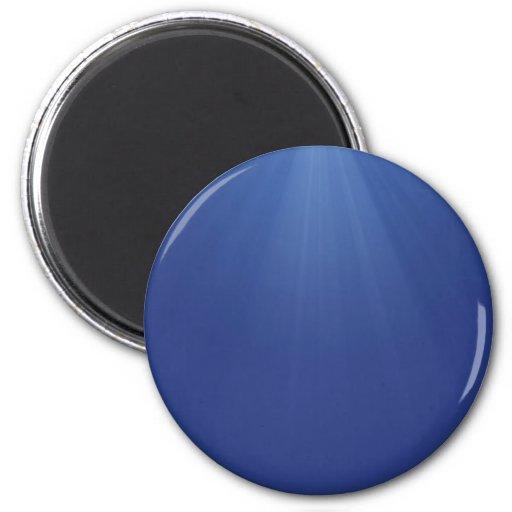 Ejemplo de rayos azules imán redondo 5 cm