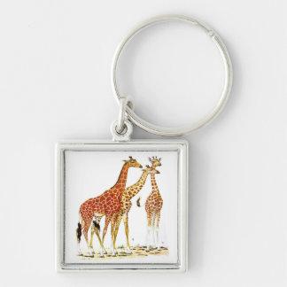 Ejemplo de tres jirafas llavero personalizado