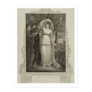 """Ejemplo de """"Troilus y de Cressida"""", acto III, Postal"""