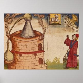 Ejemplo de un alquimista en el trabajo póster
