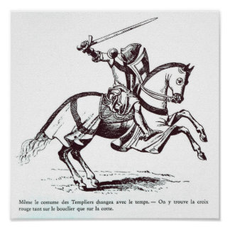 Ejemplo de un caballero Templar Póster