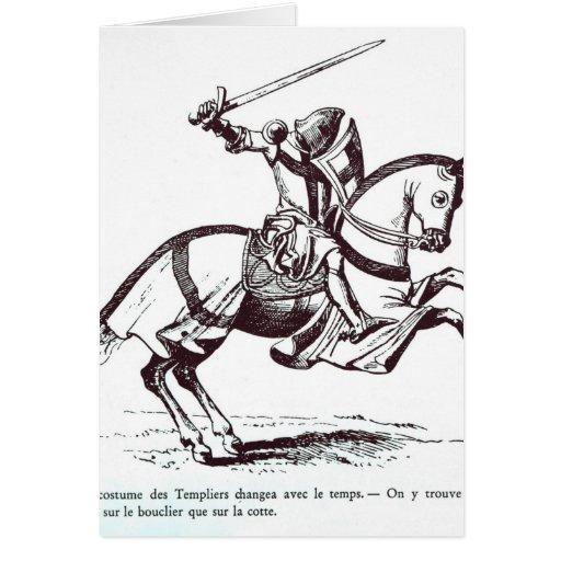 Ejemplo de un caballero Templar Tarjetas