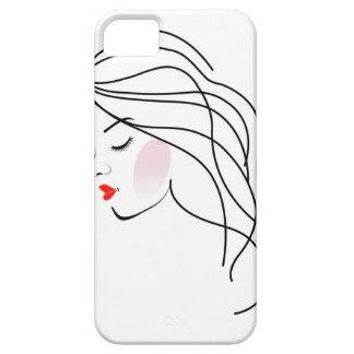 Ejemplo de un chica con el pelo ondulado funda para iPhone SE/5/5s