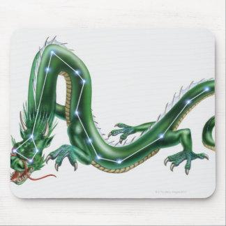 Ejemplo de un dragón con el dragón (Draco) Alfombrilla De Ratón
