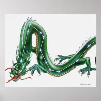 Ejemplo de un dragón con el dragón (Draco) Posters