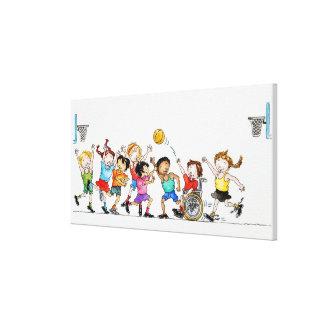 Ejemplo de un grupo de niños incluyendo a impresion de lienzo