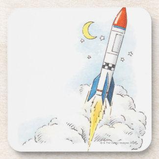 Ejemplo de un lanzamiento del cohete posavasos de bebida