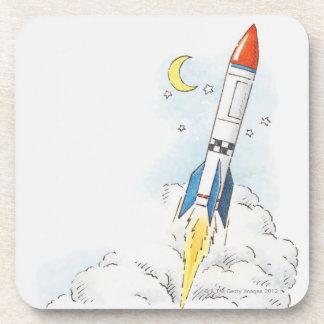 Ejemplo de un lanzamiento del cohete posavaso