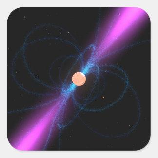 Ejemplo de un pulsar pegatina cuadrada