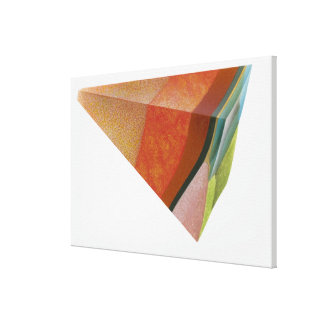 Ejemplo de un segmento de la tierra, mostrando impresión en lienzo