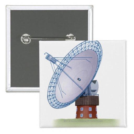 Ejemplo de un telescopio de radio pins