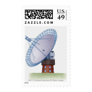 Ejemplo de un telescopio de radio sello