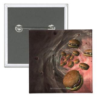 Ejemplo de un vaso sanguíneo con las hamburguesas pin cuadrada 5 cm