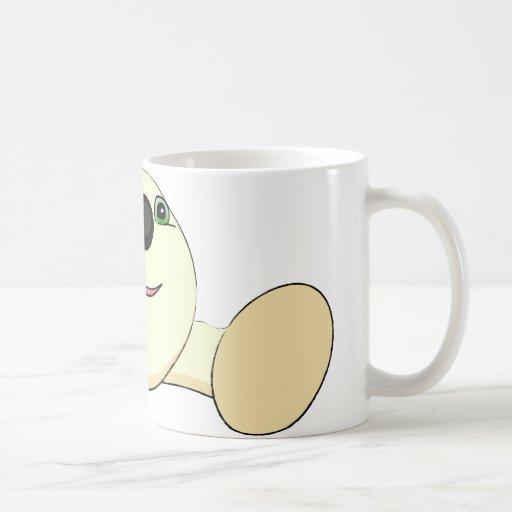 Ejemplo de una criatura redonda linda taza básica blanca