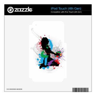 Ejemplo de una música DJ iPod Touch 4G Skin