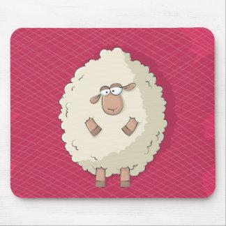 Ejemplo de una oveja gigante linda y divertida alfombrilla de ratones