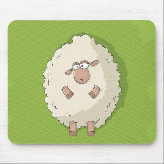 Ejemplo de una oveja gigante linda y divertida alfombrillas de ratones